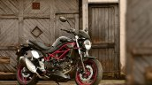 Suzuki Sv650 Black Still Right Front Quarter