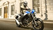 Suzuki Sv650 Blue Action Right Front Quarter 7557