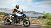 Suzuki Sv650 Blue Action Right Side