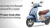Tvs Jupiter Grande With Smartxonnect Left Front Qu