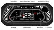 Tata Tiago Fully Digital Instrument Cluster Featur
