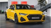 Vegas Yellow 2020 Audi Rs 6 Avant Front Quarters 2