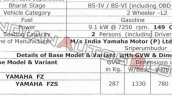 Bs Vi Yamaha Fzs Leaked Specifications 1 06f9