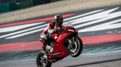 Ducati Panigale V2 Action Shots Right Side Wheelie