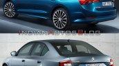 Skoda Octavia Old Vs New Rear Profile Bfa2