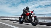 Triumph Rocket 3 R Riding Right Front Quarter
