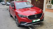 Indian Spec Mg Zs Ev Front Three Quarters Spy Phot
