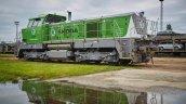 Skoda Train Engine Front Three Quarters