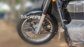 2020 Royal Enfield Classic Spy Images Front Wheel