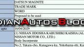 Datsun Magnite Trademark Application