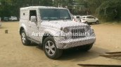 2020 Mahindra Thar Front Three Quarters Spy Shot