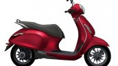 Bajaj Chetak Premium Velluto Red Side Profile