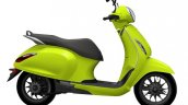 Bajaj Chetak Urbane Citric Rush Side Profile
