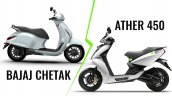 Bajaj Chetak Vs Ather 450 Tech Spec Comparison Fea
