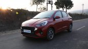 Hyundai Aura Review Images Front Three Quarters Ac