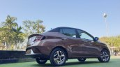 Hyundai Aura Review Images Rear Three Quarters 5