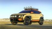 Kia Seltos X Line Trail Attack Concept Front Thrre
