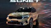 Kia Sonet Concept Front Three Quarters Live Image