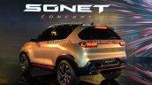 Kia Sonet Concept Rear Three Quarters Live Image