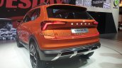 Skoda Vision In Suv Rear Three Quarters Auto Expo