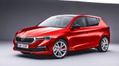 2021 Skoda Fabia Front Three Quarters Rendering