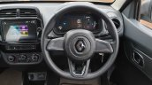 2019 Renault Kwid Review Images Steering Wheel
