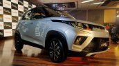 Mahindra Kuv100 Nxt Silver Black Front Three Quart