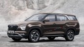 7 Seat Hyundai Creta 2021 Rendering 776a