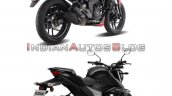 Bajaj Dominar 250 Vs Suzuki Gixxer 250 Rear Three