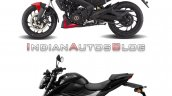 Bajaj Dominar 250 Vs Suzuki Gixxer 250 Side Profil