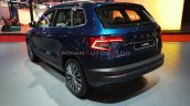 Skoda Karoq Rear Three Quarters Auto Expo 2020 8b1