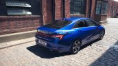 2021 Hyundai Elantra Blue Rear Three Quarters