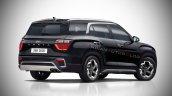 7 Seat Hyundai Creta Rear Three Quarters Rendering