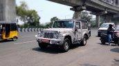 2020 Mahindra Thar Front Three Quarters Spy Shot
