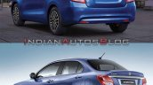 2020 Maruti Dzire Vs 2017 Maruti Dzire Rear Three