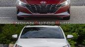 2021 Hyundai Elantra Vs 2019 Hyundai Elantra Front