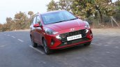 Hyundai Aura Review Images Action Front Three Quar