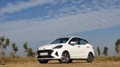 Hyundai Aura Review Images Front Three Quarters 11
