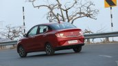 Hyundai Aura Review Images Rear Three Quarters Act
