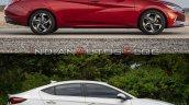 2021 Hyundai Elantra Vs 2019 Hyundai Elantra Side