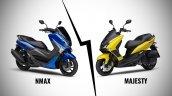 Yamaha Nmax 155 Vs Yamaha Majesty S