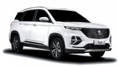 Mg Hector Plus White Exterior