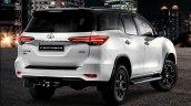 Toyota Fortuner Epic Black Exterior Rear Three Qua