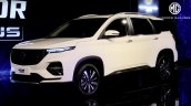 Mg Hector Plus Front Three Quarters Auto Expo 2020