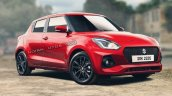 New Maruti Swift Facelift Exterior Rendering A7a0