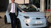 2020 Fiat 500 Electric Ev Front Three Quarters Liv