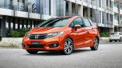 New Honda Jazz Facelift Front Three Quarters On Lo