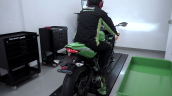 Kawasaki Zx 25r On Dyno Rear Three Quarter