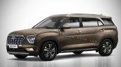 7 Seat Hyundai Creta Seven Seater Rendering Indian