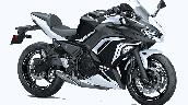 Bs6 Kawasaki Ninja 650 Pearl Flat Stardust White
